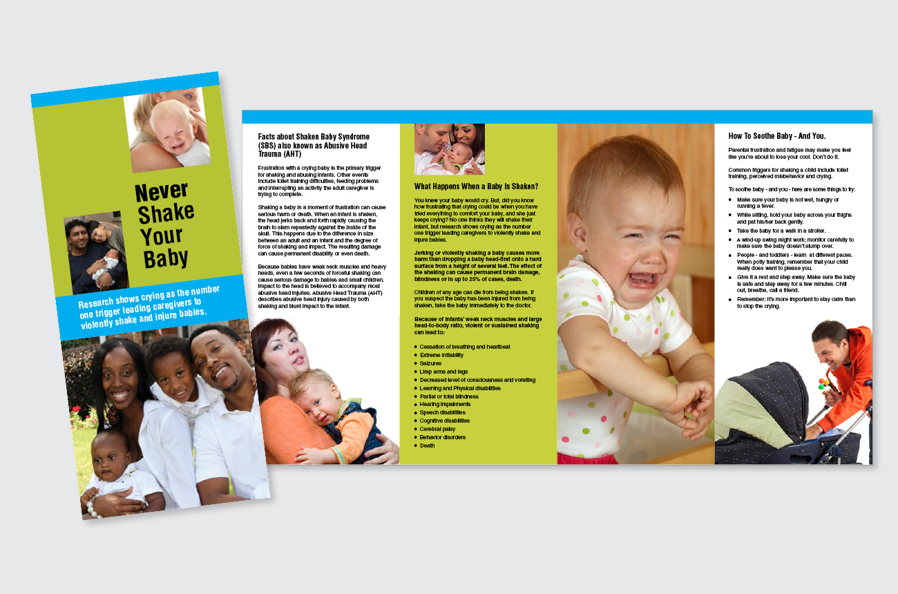 Brochures designed by the DGS Office of Graphic Communications
