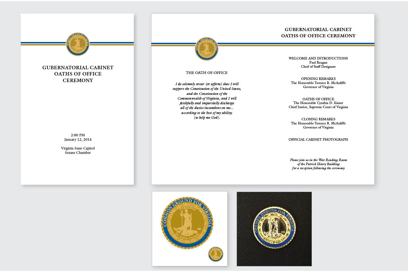 Governor McAuliffe's Pin and Oath of Office ProgramABC: Health and Safety Activity Book for Elementary school children