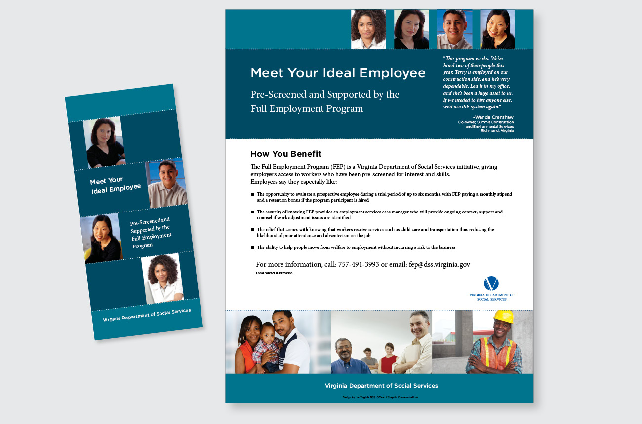 DSS: Full Employment Program flyer and brochure