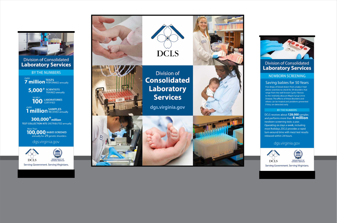DCLS Newborn Screening Display and Banner Stands