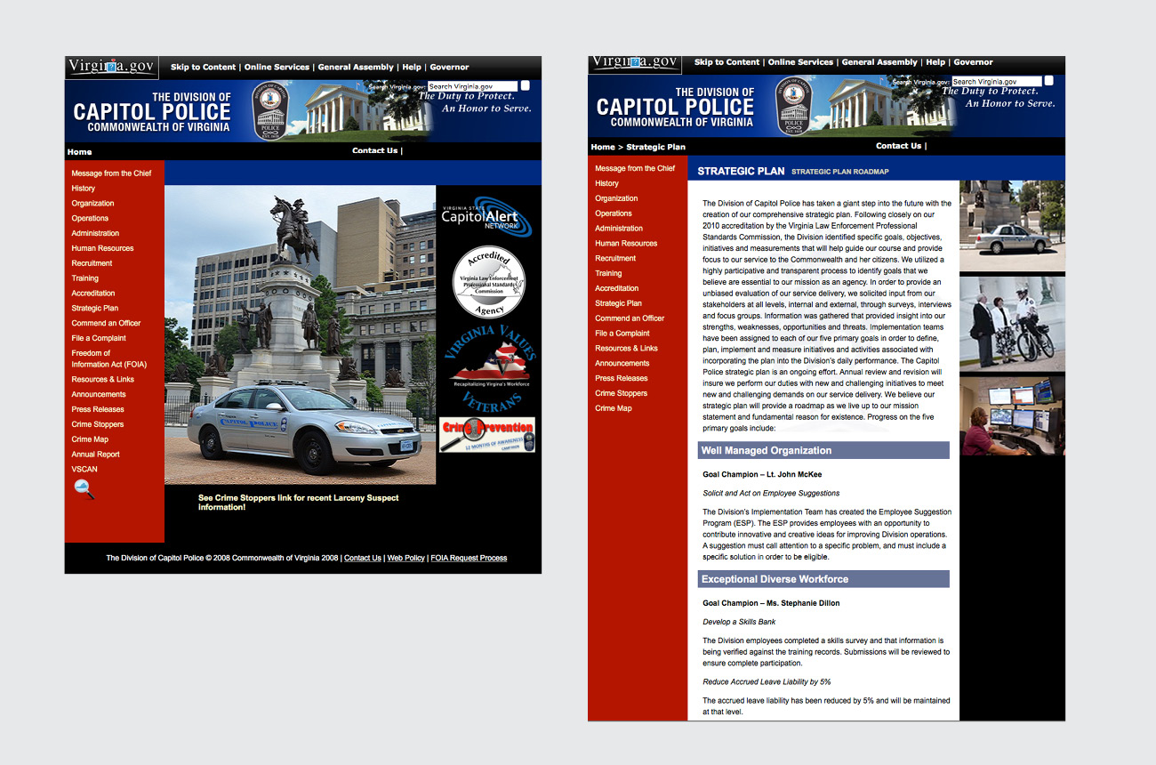 Capitol Police website