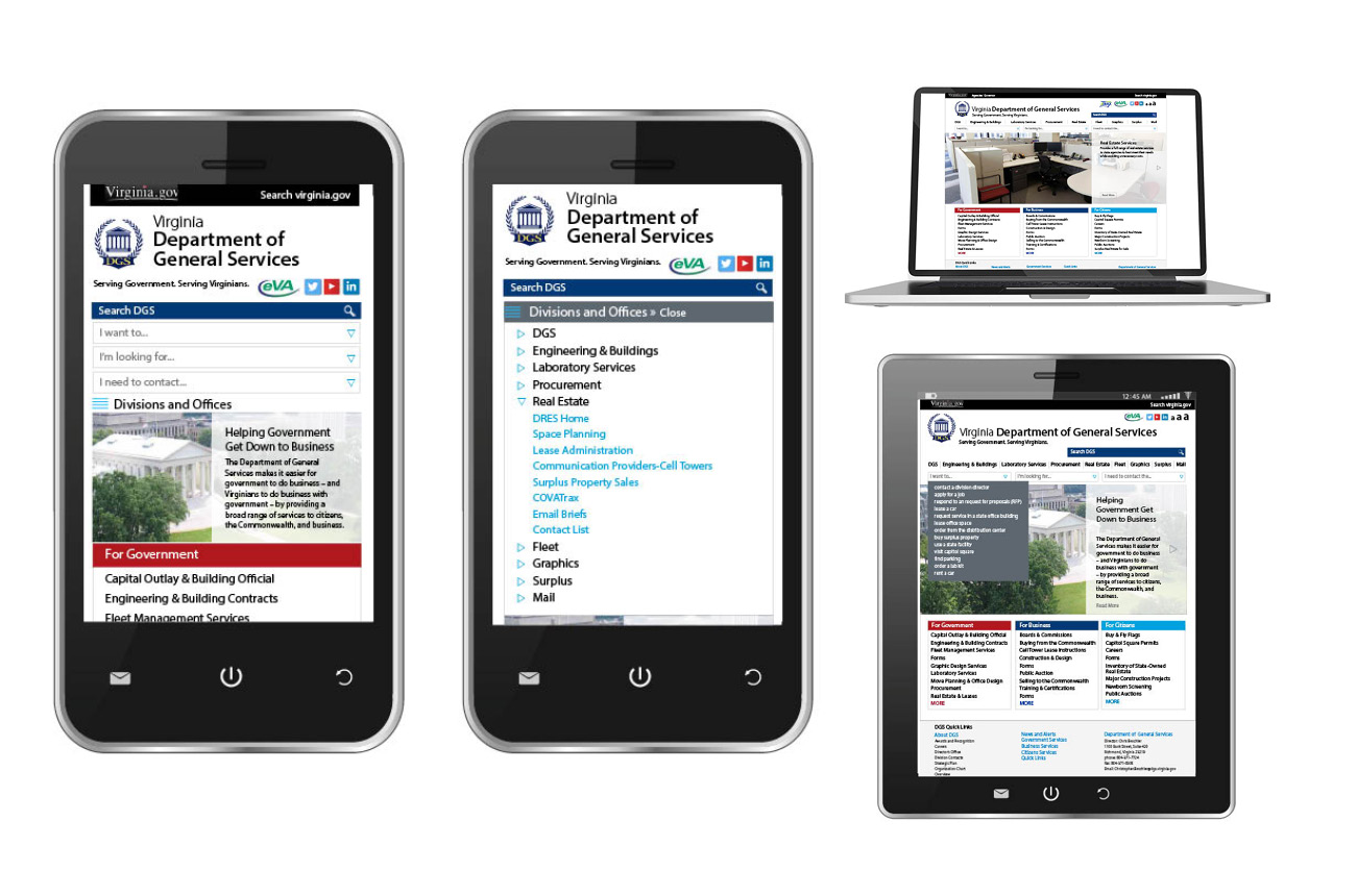 DGS Mobile-First Responsive Website